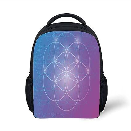 Amazon.com  iPrint Kids School Backpack Sacred Geometrty Decor d492fb7cad50e