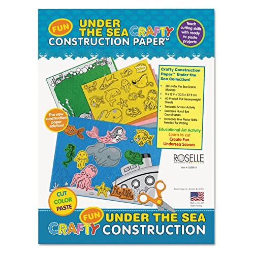 [Roselle 02806 Crafty Printed Construction Paper, 55 lbs., 9 x 12, Under The Sea, 40 Sheets/Pad] (Crafty Printed Construction Paper)