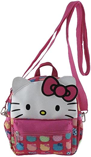 Licensed 3D Hello Kitty Style 8 x-Small 2-in-1 Cross-body bag Mini Backpack