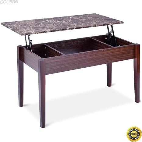 Amazon.com: Mesa de café de mármol sintético con ...