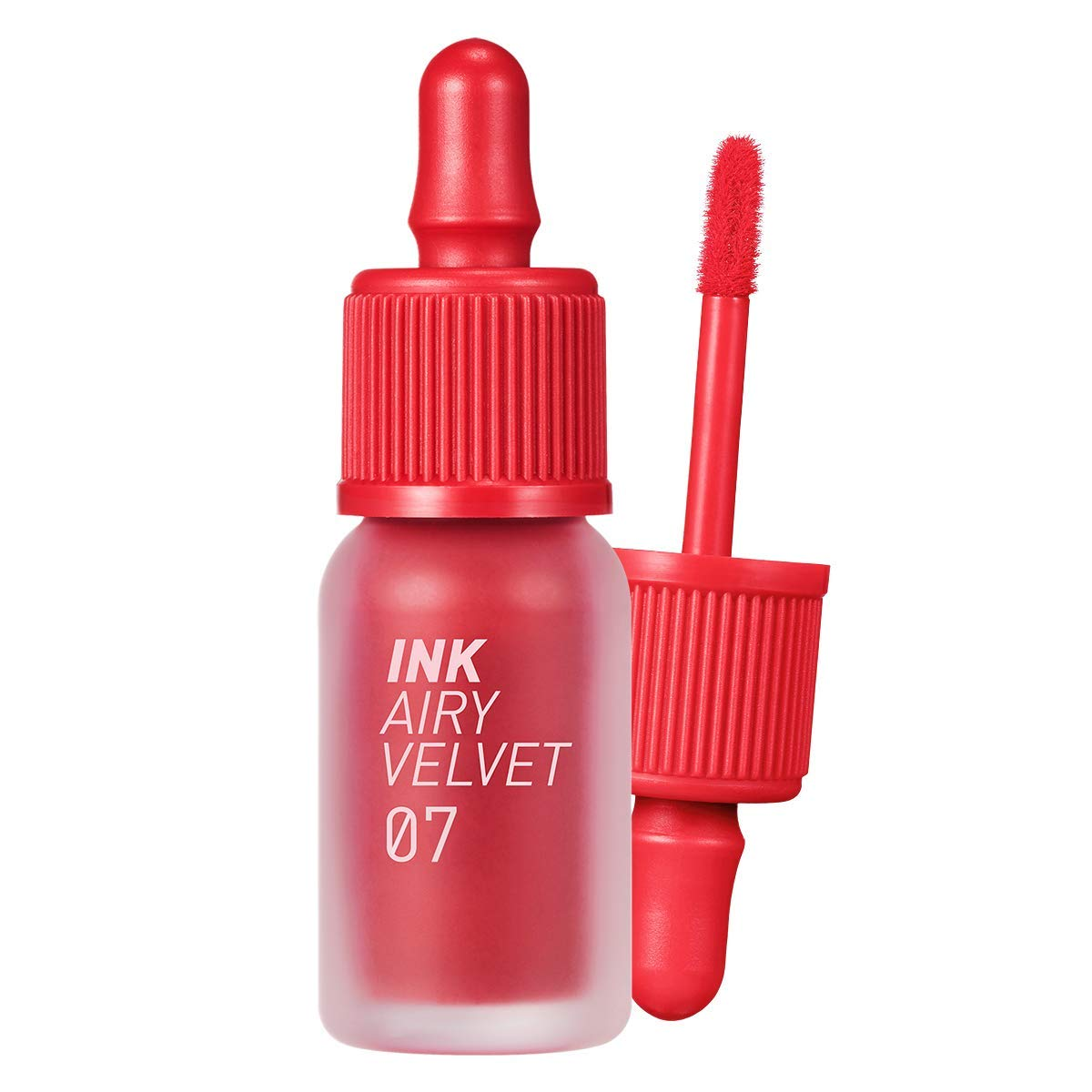 Peripera Ink Airy Velvet Lip Tint | High-Pigmentation, Lightweight, Soft, Moisturizing, Not Animal Tested | Heart Grapefruit (#07), 0.14 fl oz