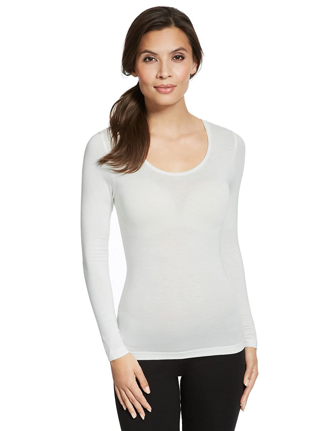 Ladies Marks   Spencer HEATGEN Long Sleeve Thermal Top M S Winter SKI Sail  (6)  Amazon.co.uk  Clothing 56fee2548