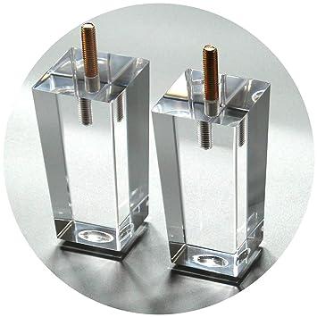 4x Mobelfusse 10cm Sofafuss Glas Sockelfuss Acryl Beine Des Ikea Tv