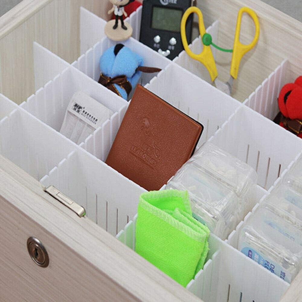 Guilty Gadgets Verstellbare Schrank-Schubladen-Trennwand Trennwand Storage Organizer Kleiderschrank DIY Raster Storage