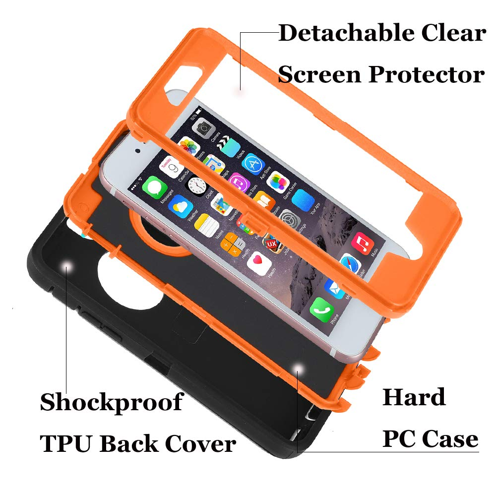 Wide Selection; Full Protection Defender Rugged Case Iphone 6 /6 Plus Cover clip Fits Otterbox