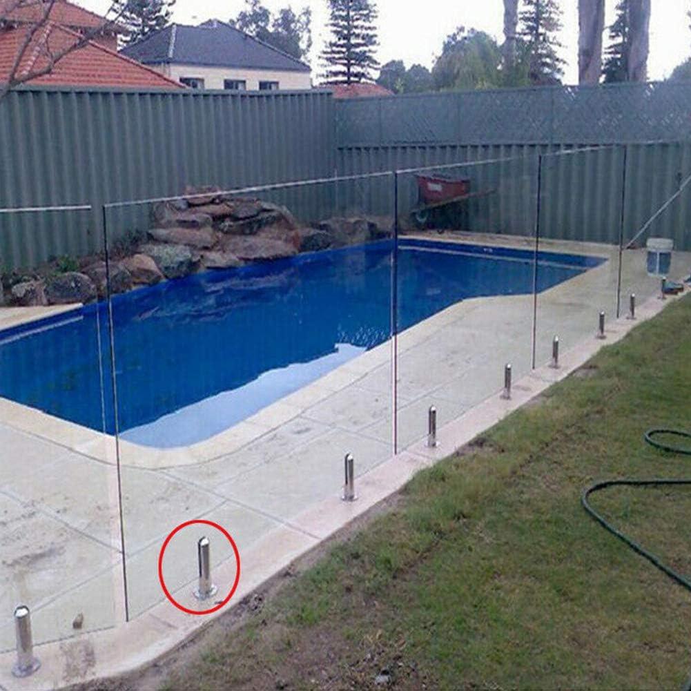 escalera pinza de poste de acero inoxidable barandilla de barandilla para cristal de 10 a 12 mm Valla de piscina de cristal barandilla de barandilla soporte de suelo pinza de vidrio de piscina