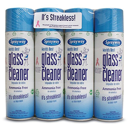 (Sprayway Glass Cleaner Aerosol Spray, 19 oz, 4 Pack)
