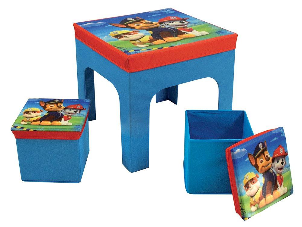 FUN HOUSE Pat' Patrouille tavolo con 2sgabelli pieghevole per bambini, MDF/in tessuto non tessuto, 52x 52x 15cm CIJEP 712649