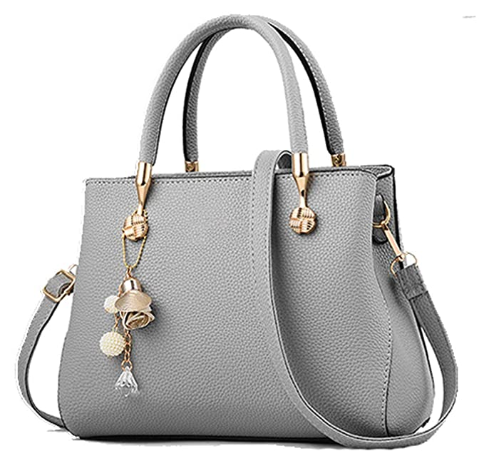 Handbags for Women Fashion Ladies Purses PU Leather Satchel Shoulder Tote Bags (Gray2) best stylish purses for fall