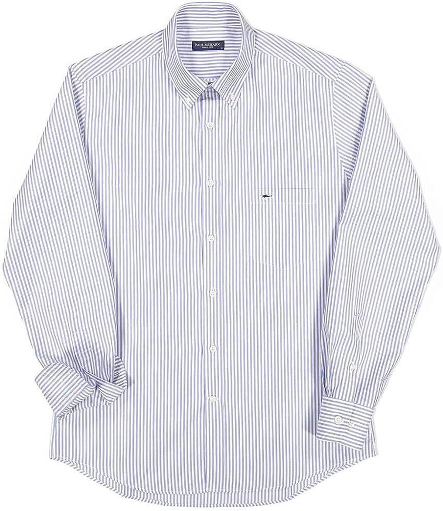 Paul & Shark COP3006-002 - Camisa a rayas celeste para hombre con botón Down con bolsillo regular Fit Celeste Rigato 41: Amazon.es: Ropa y accesorios