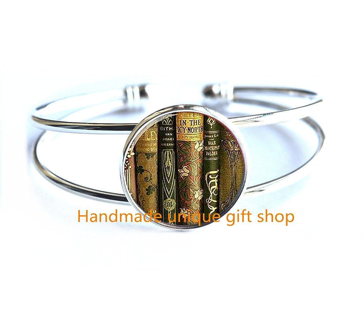 Gift for Writer,librarian,book Lover-RC043 Dainty Bracelet Book Bracelet,book Jewelry,gift for Teacher,teacher Jewelry Delicate Bracelet,Library Book Bracelet