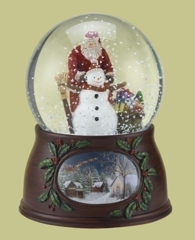 2019年新作 Roman Little スノーグローブ クリスマス 音楽とともにサンタクロースと雪だるまが回転 グリッタードーム 「Have Yourself Yourself a a Merry Little Christmas」を演奏 B0084H9RE6, コトウチョウ:8ffba014 --- irlandskayaliteratura.org