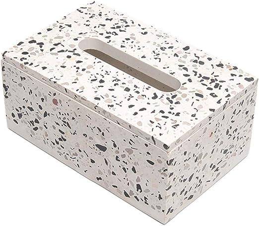 HDOUBR Caja de pañuelos de terrazo de Cemento Simple salón hogar Restaurante Coche Bandeja Creativa Caja de Papel servilleta Caja: Amazon.es: Hogar