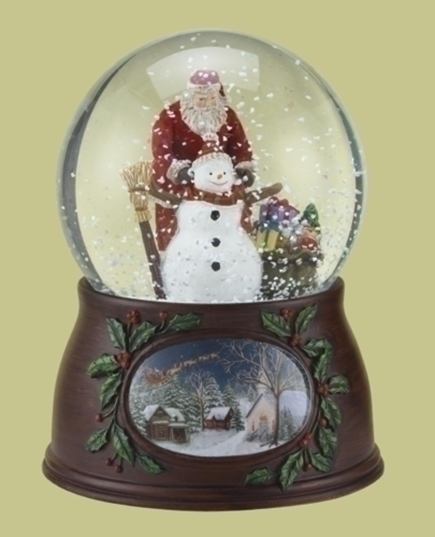 Roman Christmas Musical Revolving Santa Claus and Snowman Snow Globe Glitterdome Plays  Have Yourself A Merry Little Christmas  B0084H9RE6 Schneekugeln