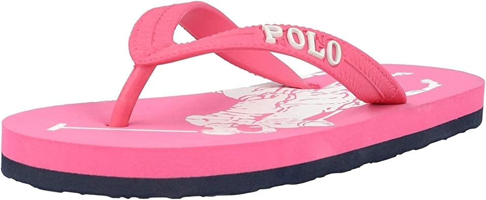 Polo Ralph Lauren Landry Rosa/Blanco (Baja Pink/White) EVA 30 EU ...