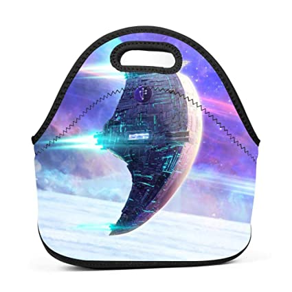 6e0a35d57316 Amazon.com - SLBDBDMH Lunchbox Lunch Bag Spaceship Handbag ...