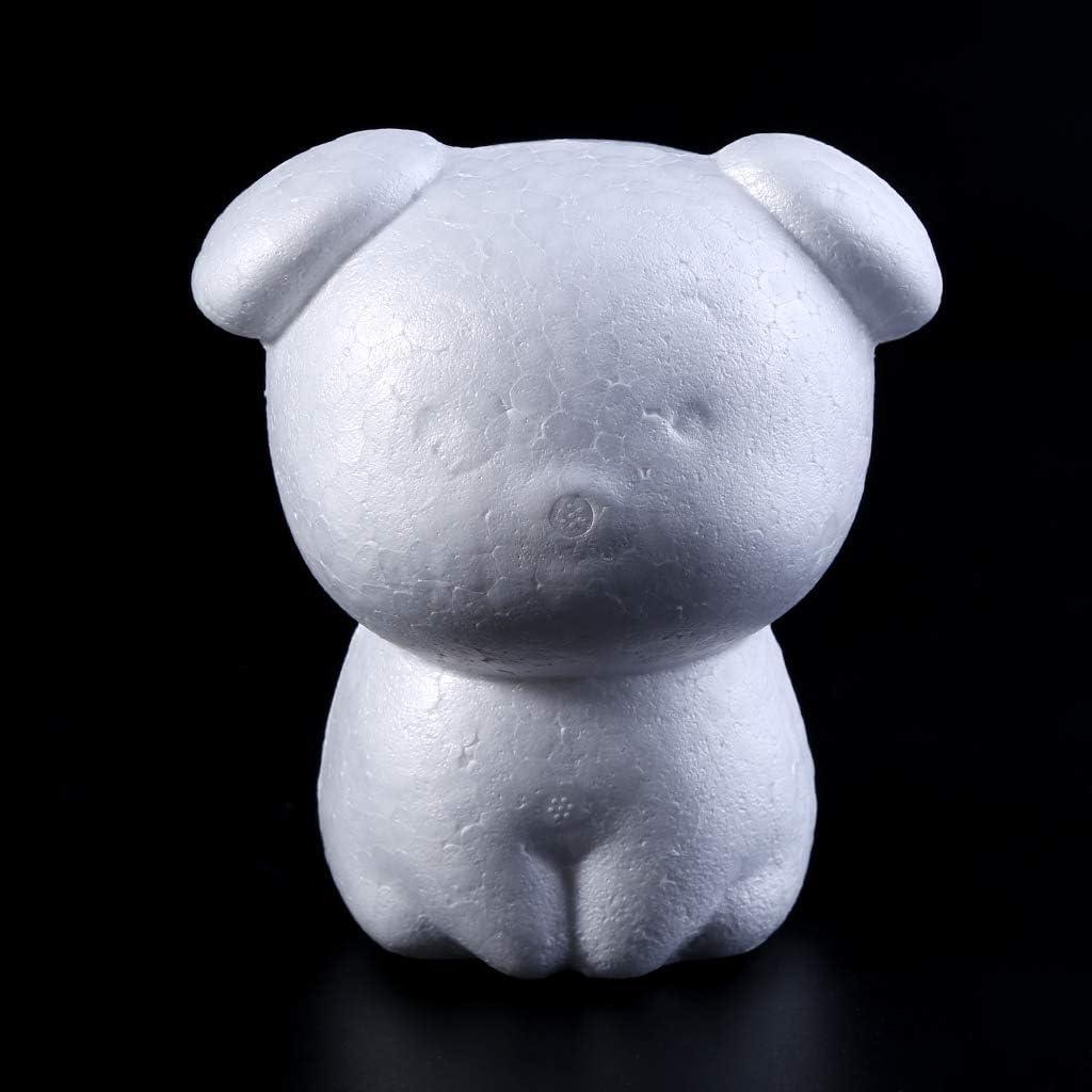 YO-HAPPY Animals Shape White DIY Craft Tool,Kids DIY Gift,Foam Material