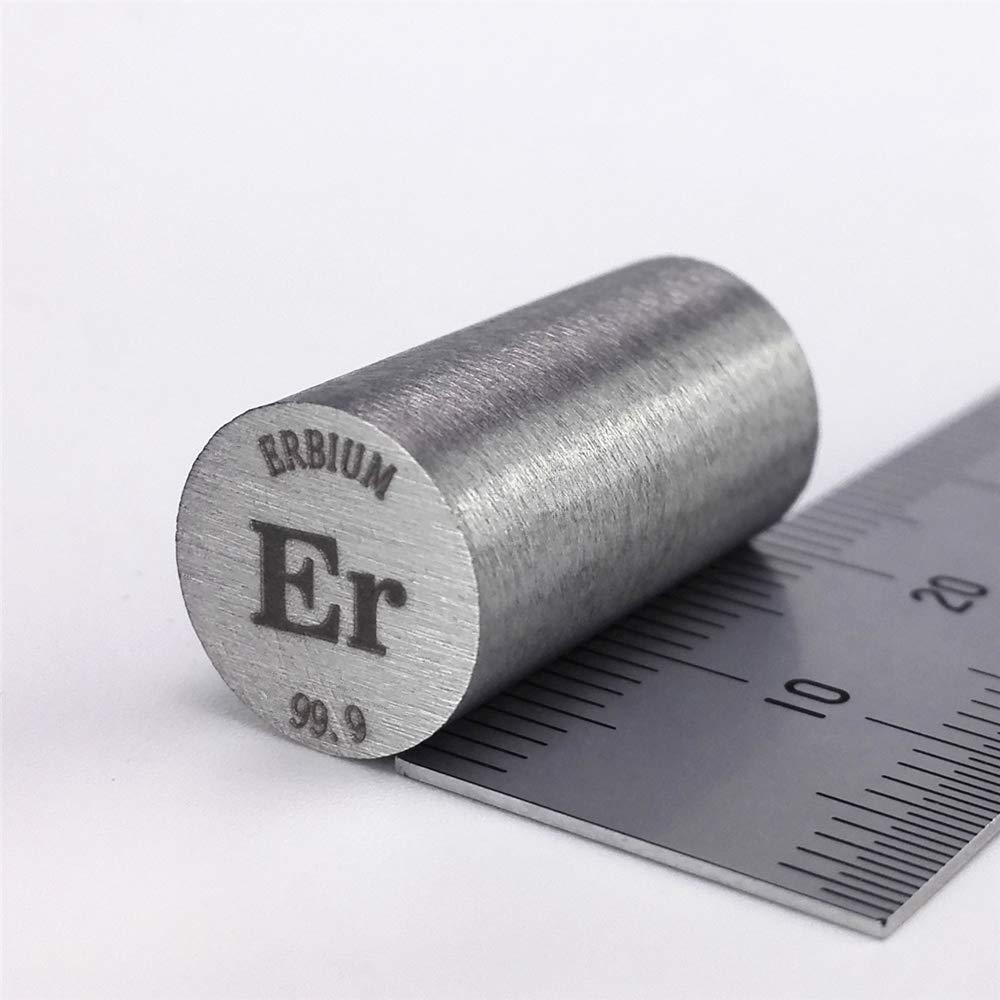 Erbium Metal Rod 99.9% 10diameter x20mm Length 14.6grams Element Er Specimen Chinaium