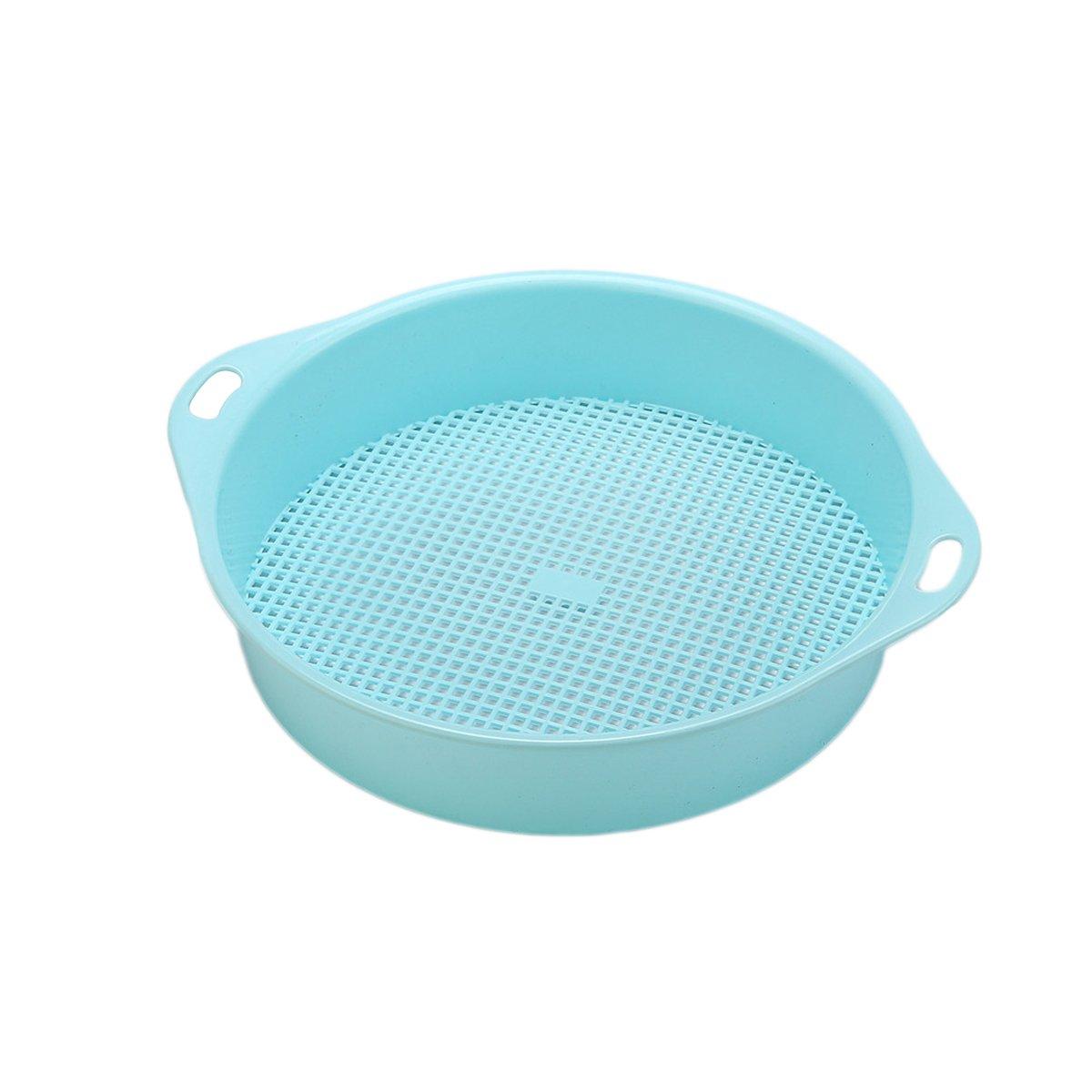 OUNONA Gartensieb Erdsieb Kunststoff Garten Handwerkzeug Riddle Boden Mesh (blau)