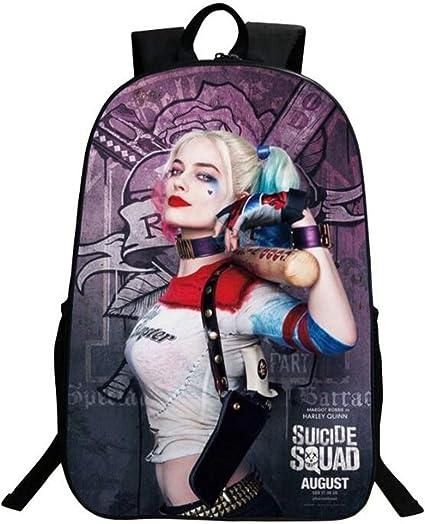 Harley Quinn 3D Print Children Travel School Backpacks Boy Girl Bags V03
