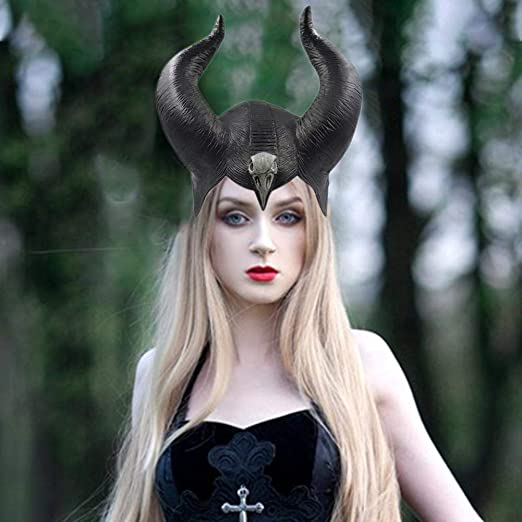 Persiverney Accesorio de Maléfica Disfraz Halloween Sombrero ...