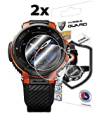 IPG for Casio Pro Trek Smart WSD - F30 Outdoor Watch Screen Protector (2 Units) Invisible Ultra HD Clear Film Anti Scratch Skin Guard - Smooth/Self-Healing/Bubble -Free by IPG