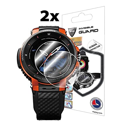 IPG for Casio Pro Trek Smart WSD - F30 Outdoor Watch Screen Protector (2 Units) Invisible Ultra HD Clear Film Anti Scratch Skin Guard - ...