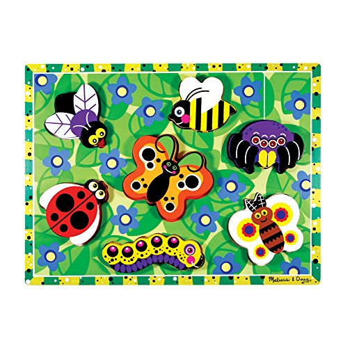 Melissa & Doug Insects Wooden Chunky Puzzle (7 pcs) ()