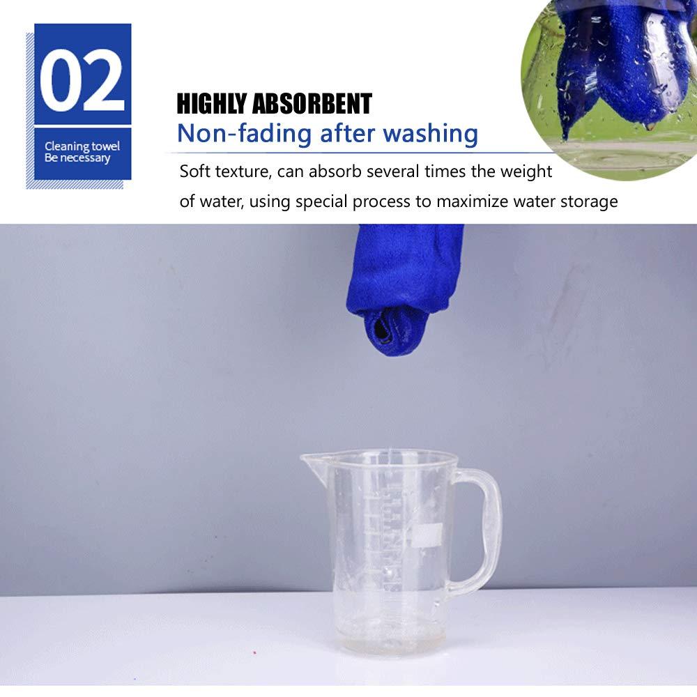 Chiffons de Nettoyage en Microfibre pour Voiture et Maison Microfibres Lot de 10 Chiffons qualit/é Professionnelle 30x30cm pour Detailing Microfibre Nettoyage