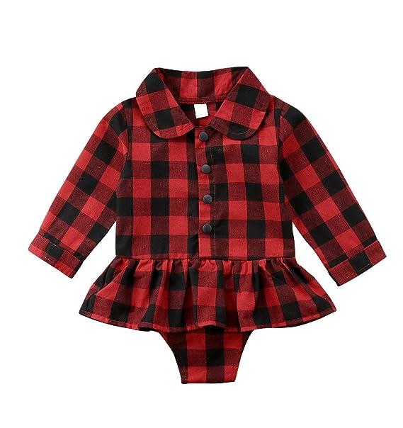 Amazon.com: urkutoba bebé recién nacido niña botón abajo ...