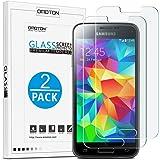 OMOTON [2pack]Cristal Templado Galaxy S5 Mini Protector de Pantalla Vidrio Templado Para Samsung Galaxy S5 MINI [2.5d Borde redondo]con[9H Dureza][Alta Definicion][Garantía de por vida]