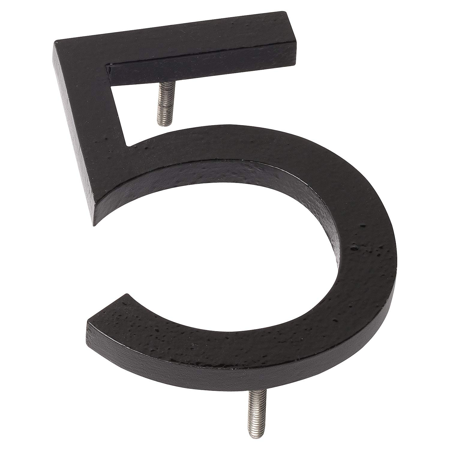 Montague Metal Products MHN-06-5-F-BK1 Floating House Number, 6'' x 4.19'' x 0.31'' Black by Montague Metal Products (Image #1)