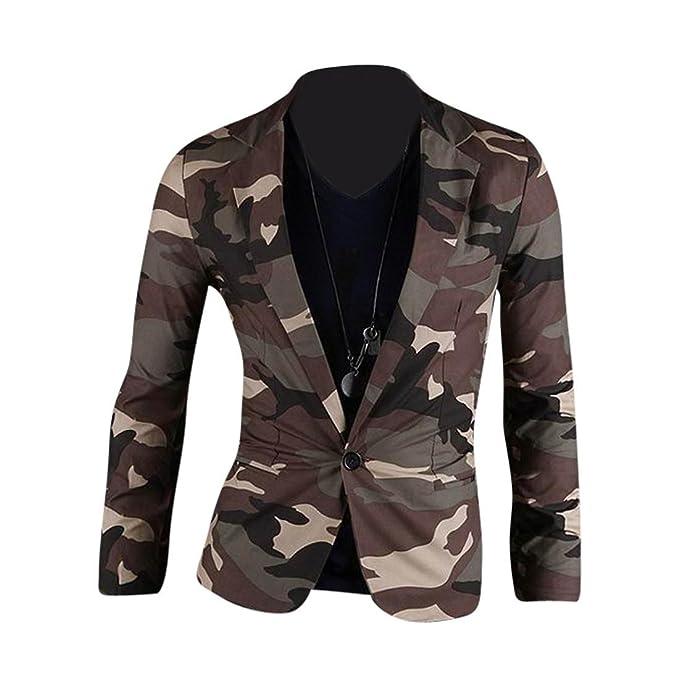 Jeansian Moda Chaqueta Traje Blusas Camuflaje Chaqueta Hombres Mens Fashion Jacket Camouflage Blazer 8990 Armygreen XS