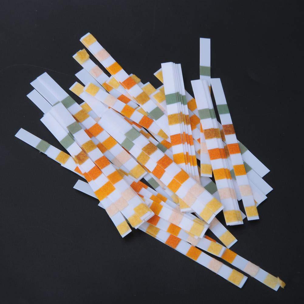 applicable pour les piscines Bandelette de test de pH 50Pcs 6-in-1 Multifonctionnel Papier de test de pH pour tester lacide PH cyanurique de duret/é dalcalinit/é de valeur de chlore r/ésiduel de pH