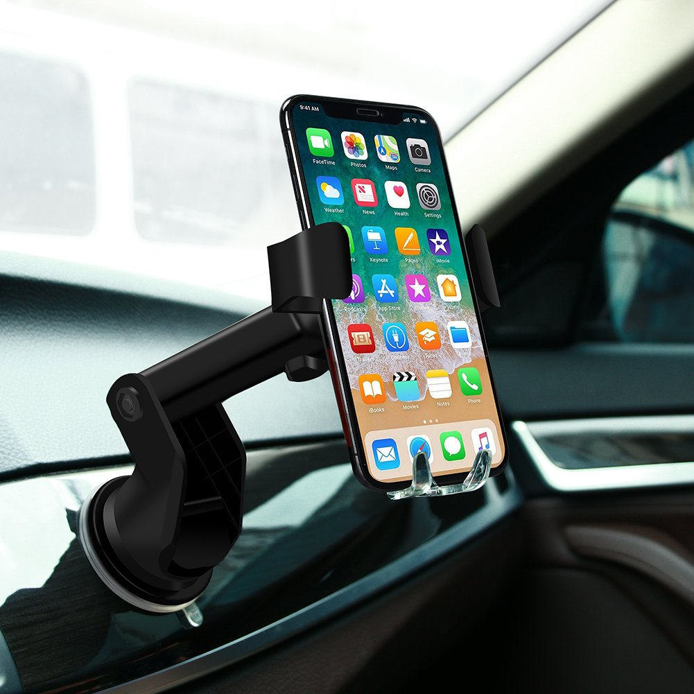 Automatic Qi Wireless Charger Car Mount Phone Holder For Samsung Galaxy S9 Plus/S9, S8 Plus/S8, S7/S7 Edge, Note 8/5, Apple iPhone X, 8 Plus/8 & Any Qi-enabled Device(Black) by TOFOCO COM (Image #7)