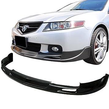 Acura TSX Type Urethane AddOn Front Bumper Lip Spoiler - Acura tsx bumper