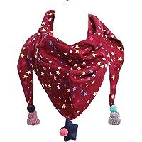 Hosaire 1X Bufanda de Algodón Bebé Calentador de Cuello Linda Patrón de Pequeña Estrella Otoño Invierno Triángulo…