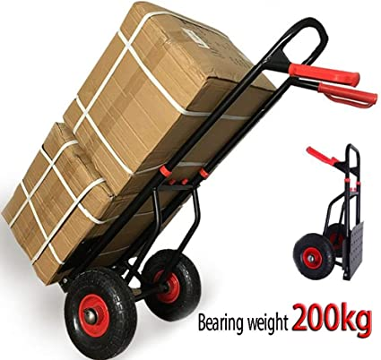 Travel ROYWY Heavy Duty 100kg Loading Capacity Folding Foldable Hand Sack Truck Barrow Cart Trolley Industrial Warehouse Hand Truck Personal Sack Truck for Luggage Auto MOV