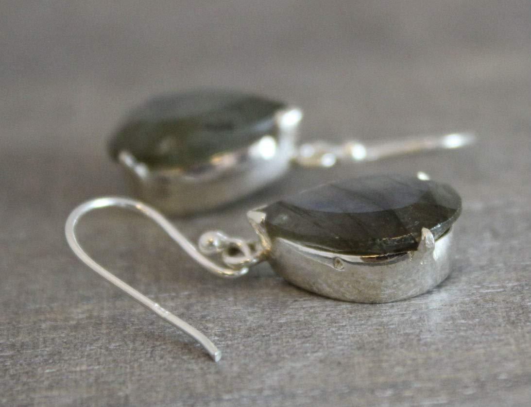 Labradorit Sterling Silber Ohrringe