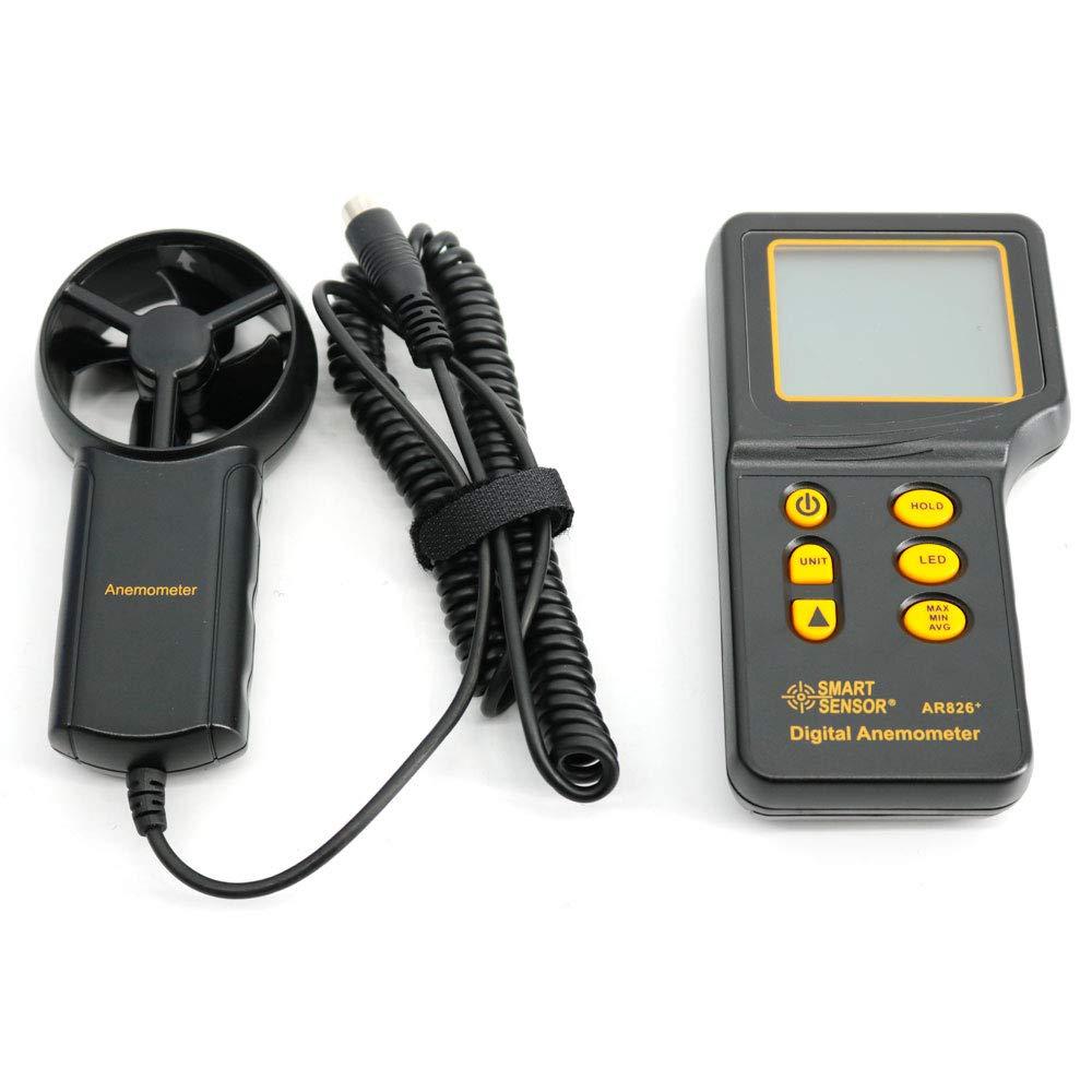 Graigar AR826+ Digital Portable Anemometer Air Volume Meter Anemometer Tester Electronic Wind Speed Meter by Graigar