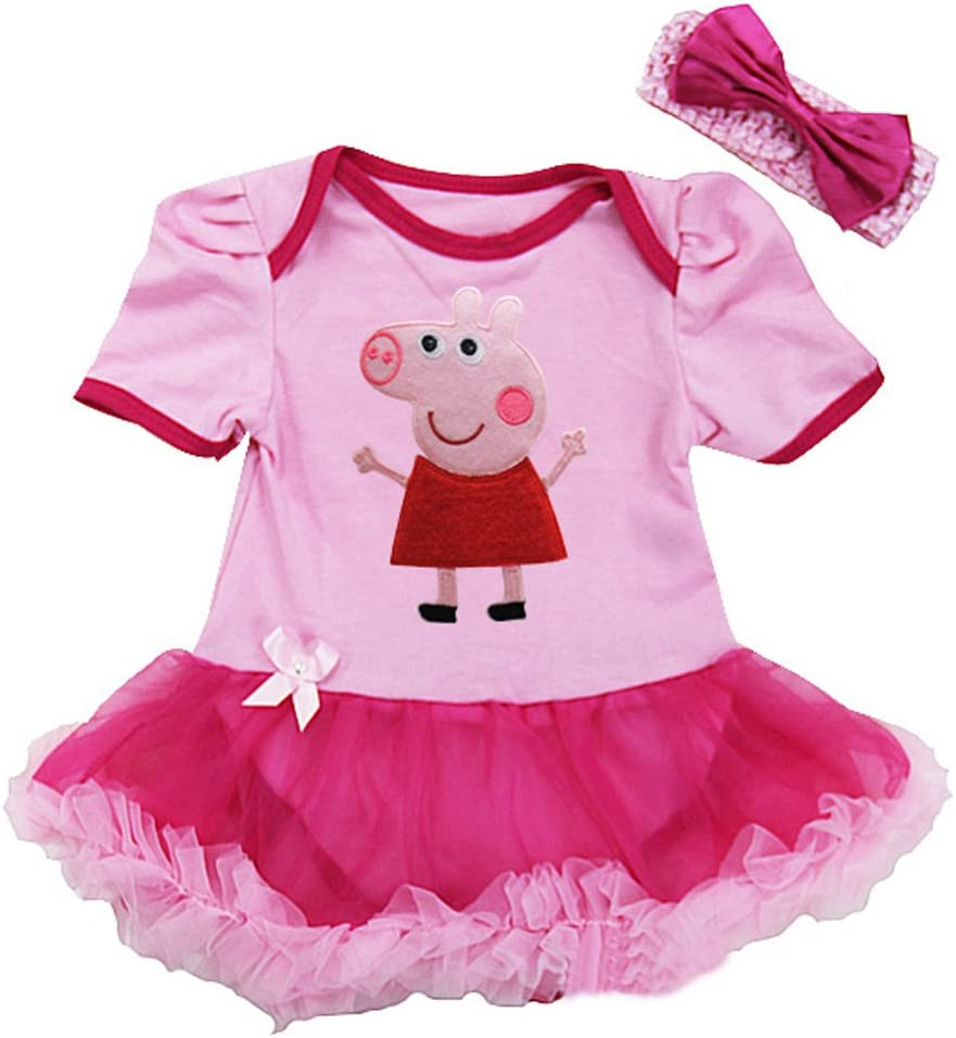 Peppa Pig de niña Pelele para bebé disfraz de/Party/Fancy Dress ...