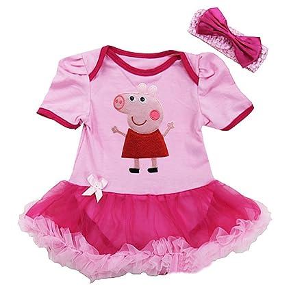 Peppa Pig de niña Pelele para bebé disfraz de/Party/Fancy Dress/disfraz