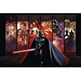 1art1 58749 Poster Star Wars Saga Collection I-VI 91 x 61 cm