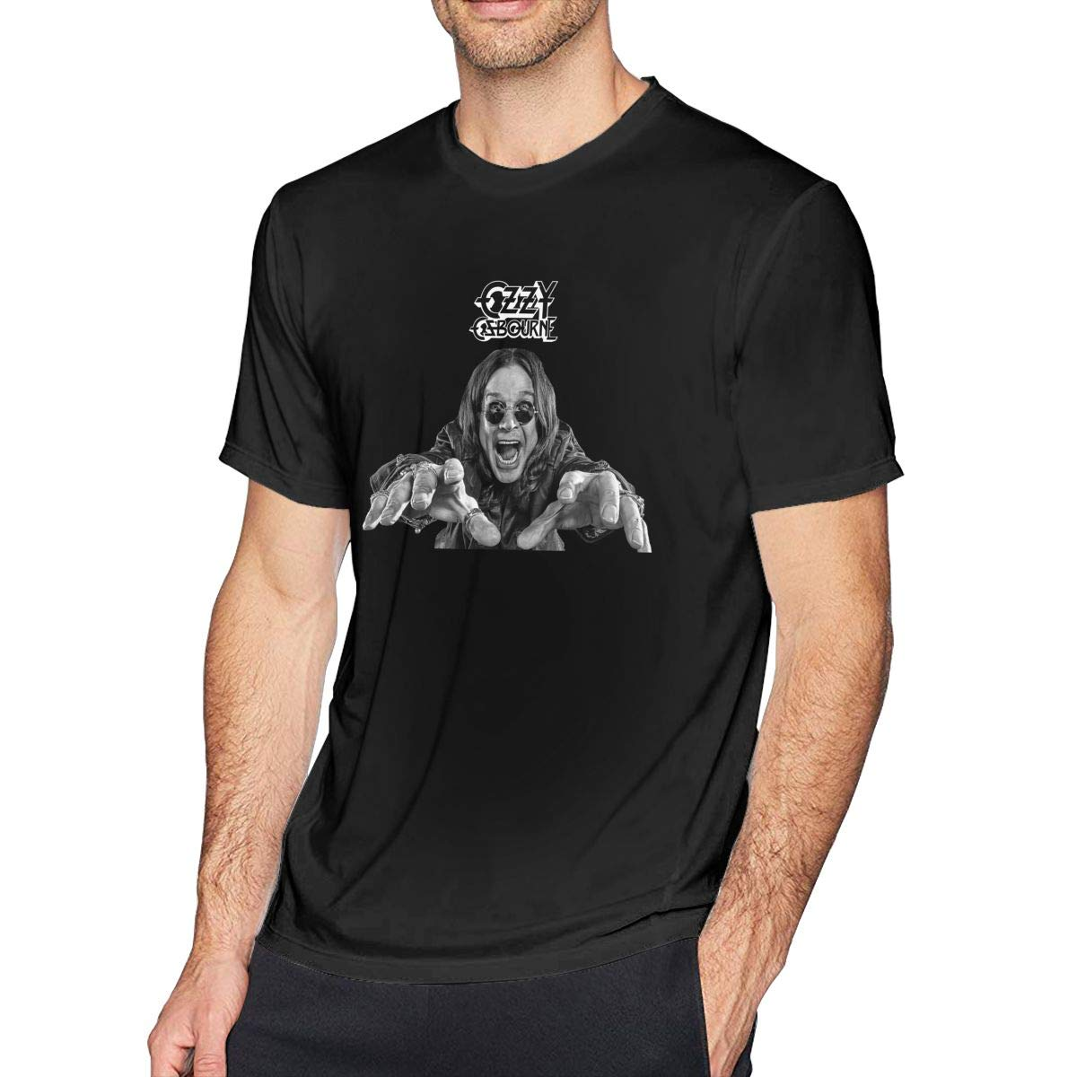 ANCHENKEJI Men The Prince of Darkness-Ozzy Osbourne Casual Tee