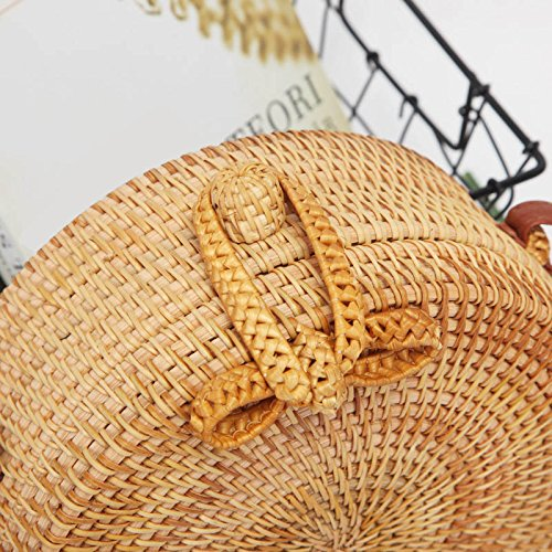 Shoulder Cards Straw Lady Coin Fork Majome Beach Bag Money Crossbody Crossed xq4CwBIU