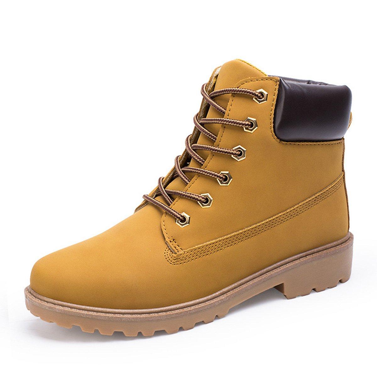 Herren Damen Leder Schnüren Sich oben Arbeit Desert Boots Stiefel Stiefeletten Outdoor Schuhe Tarnung 39 0cu12HfJ