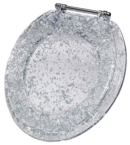 Ginsey Standard Resin Toilet Seat With Chrome Hinges