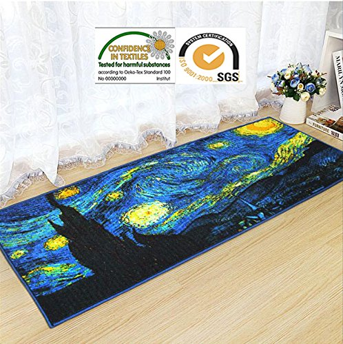 JACKSON Home and Kitchen Rugs Washable Door Mat Non Slip Runner Decorative Entrance Rug with Non-Skid Rubber Backing Oeko-tex100 Certified 59