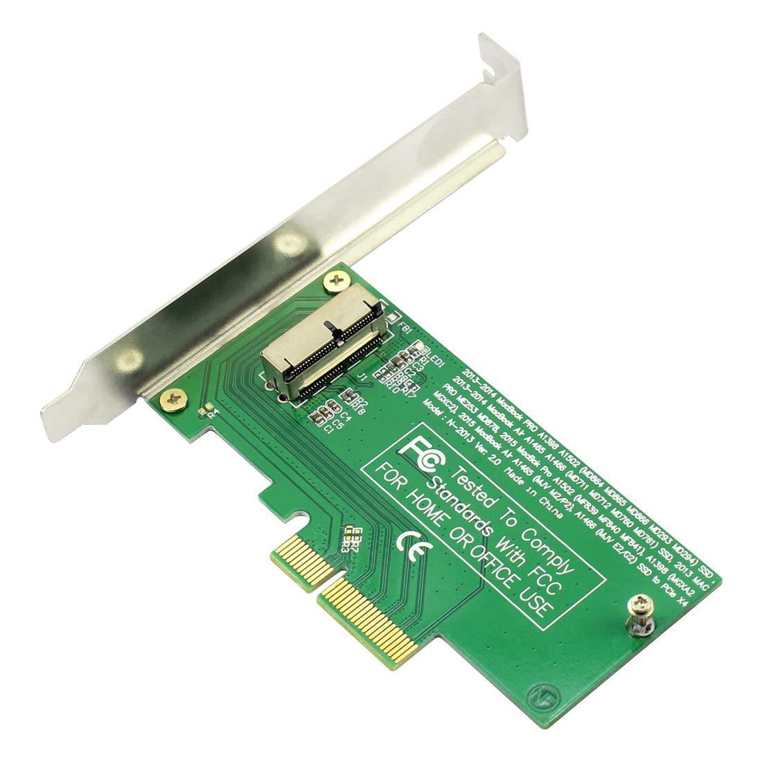 JMT SSD PCI-E Tarjeta Adaptador 4X Disco Duro del convertidor del ...