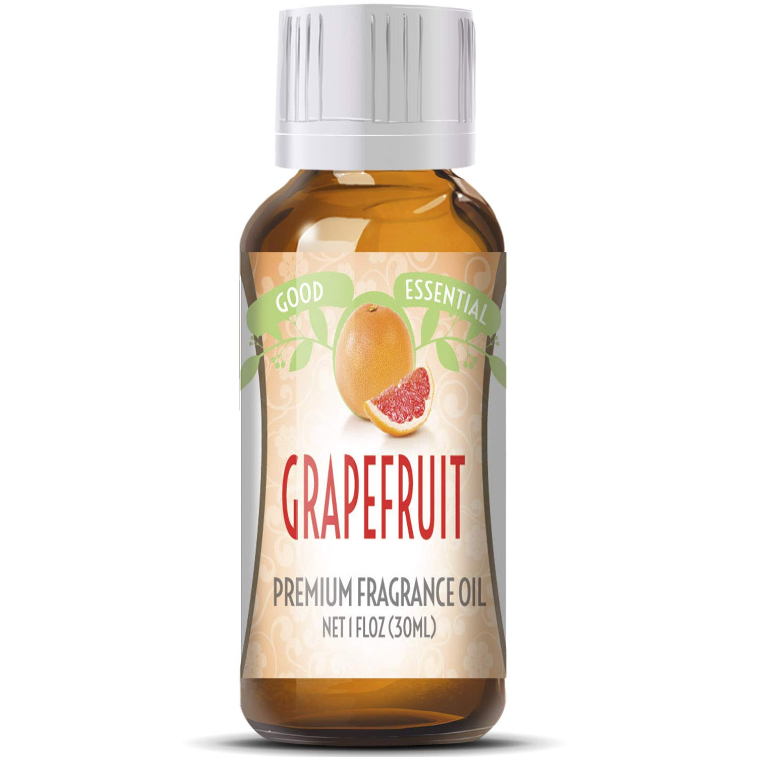 Grapefruit Scented Oil by Good Essential (Huge 1oz Bottle - Premium Grade Fragrance Oil) - Perfect for Aromatherapy, Soaps, Candles, Slime, Lotions, and More!